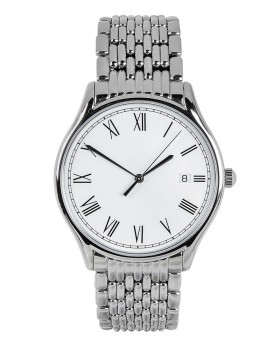 Three-Hand Stainless Steel Watch