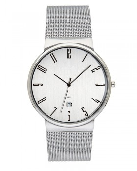 Stainless Steel Quartz Dress Watch